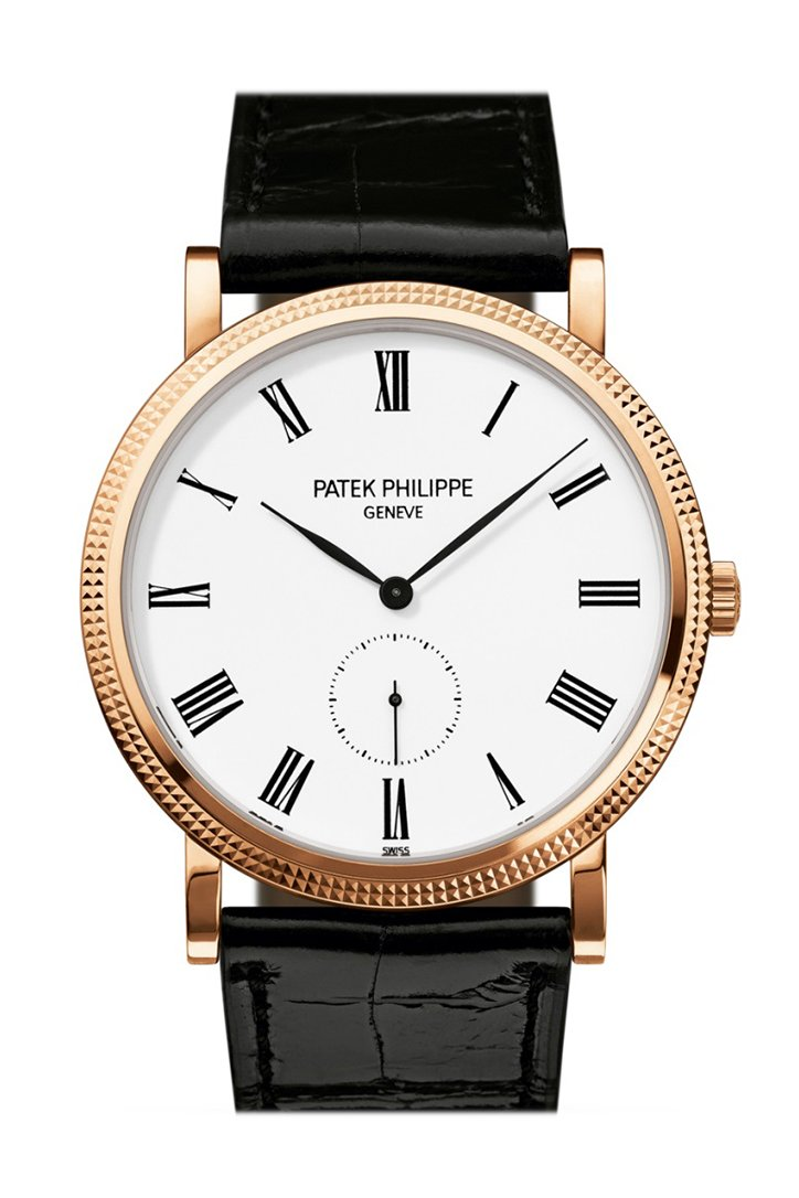 PATEK PHILIPPE Calatrava White Dial 18kt Rose Gold Men's Watch 5119R-001