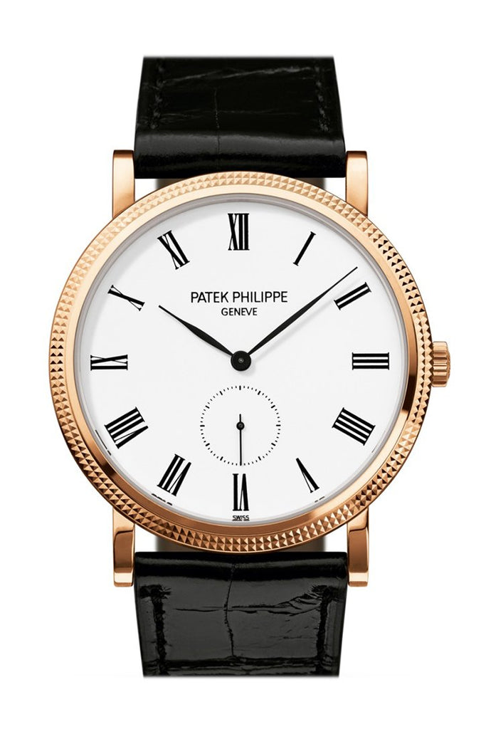 Patek Philippe Calatrava White Dial 18Kt Rose Gold Mens Watch 5119R-001