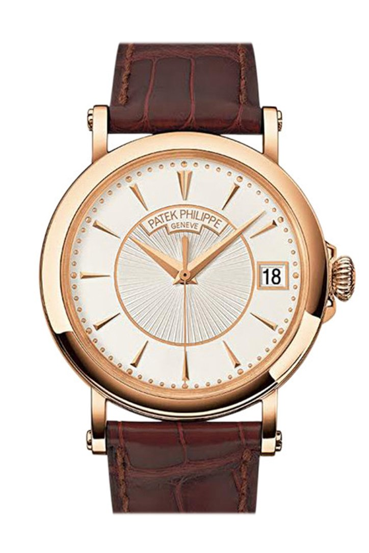 PATEK PHILIPPE Calatrava Silvery Opaline Dial 18K Rose Gold Men's Watch 5153R-001