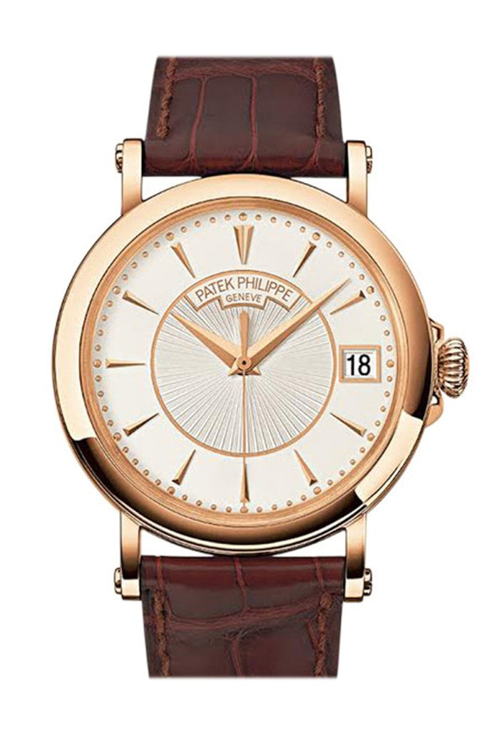 Patek Philippe Calatrava Silvery Opaline Dial 18K Rose Gold Mens Watch 5153R-001