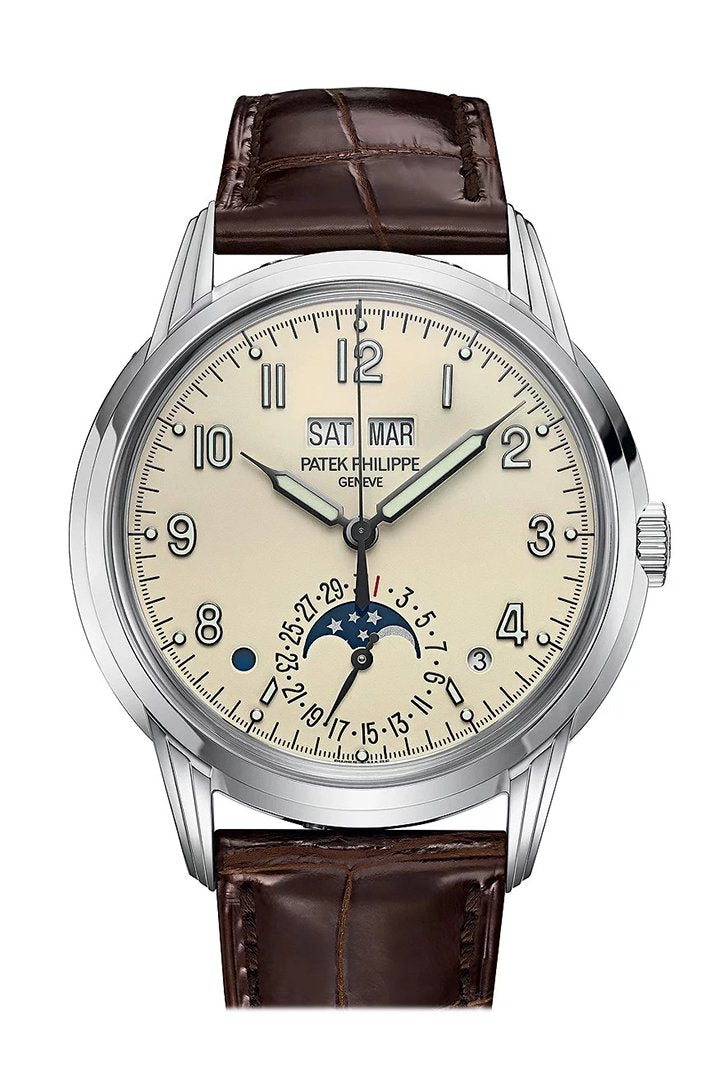 Patek Philippe Grand Complications Lacquered Cream Dial Automatic Mens Perpetual Calendar Watch
