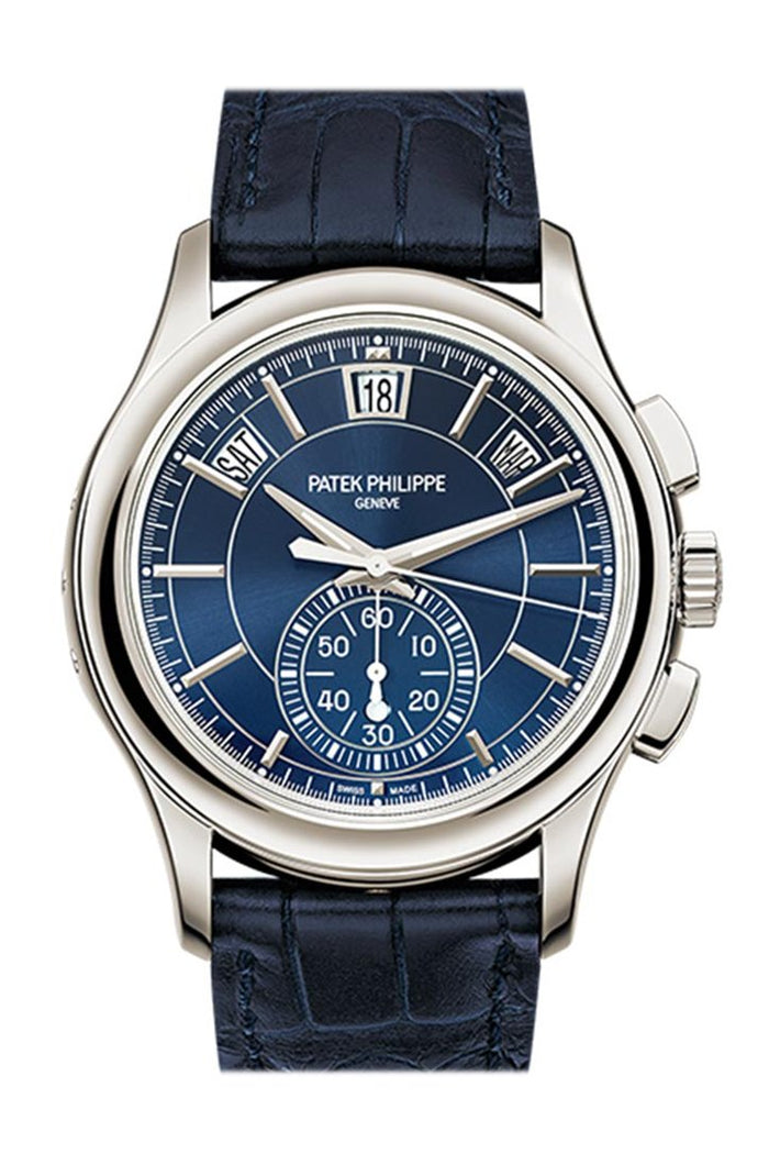 PATEK PHILIPPE Complications Blue Dial Annual Calendar Platinum Men's Watch 5905P-001