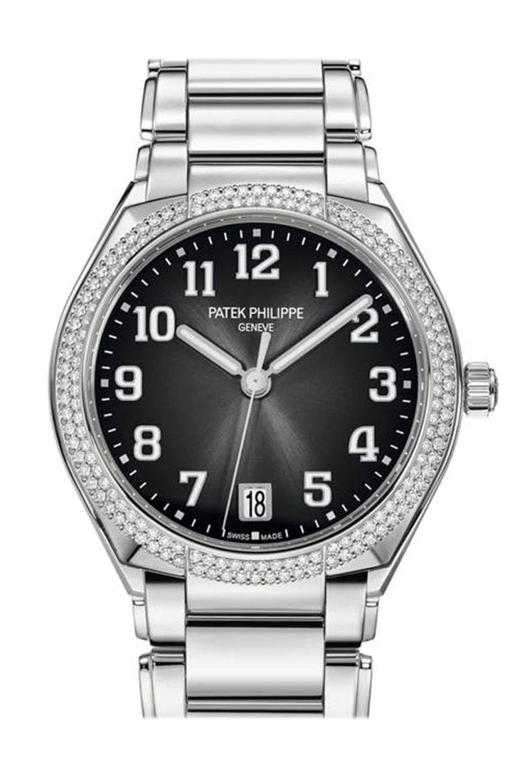 Patek Philippe Twenty 4 Black Dial Automatic Ladies Diamond Watch 7300/1200A-001