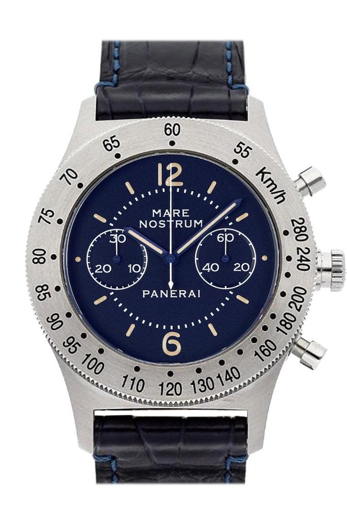 Panerai Mare Nostrum Acciaio Chronograph Blue Dial Mens Watch Pam00716