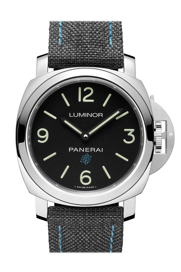 Panerai Base 3 Day Black Leather Black Dial Watch PAM00774