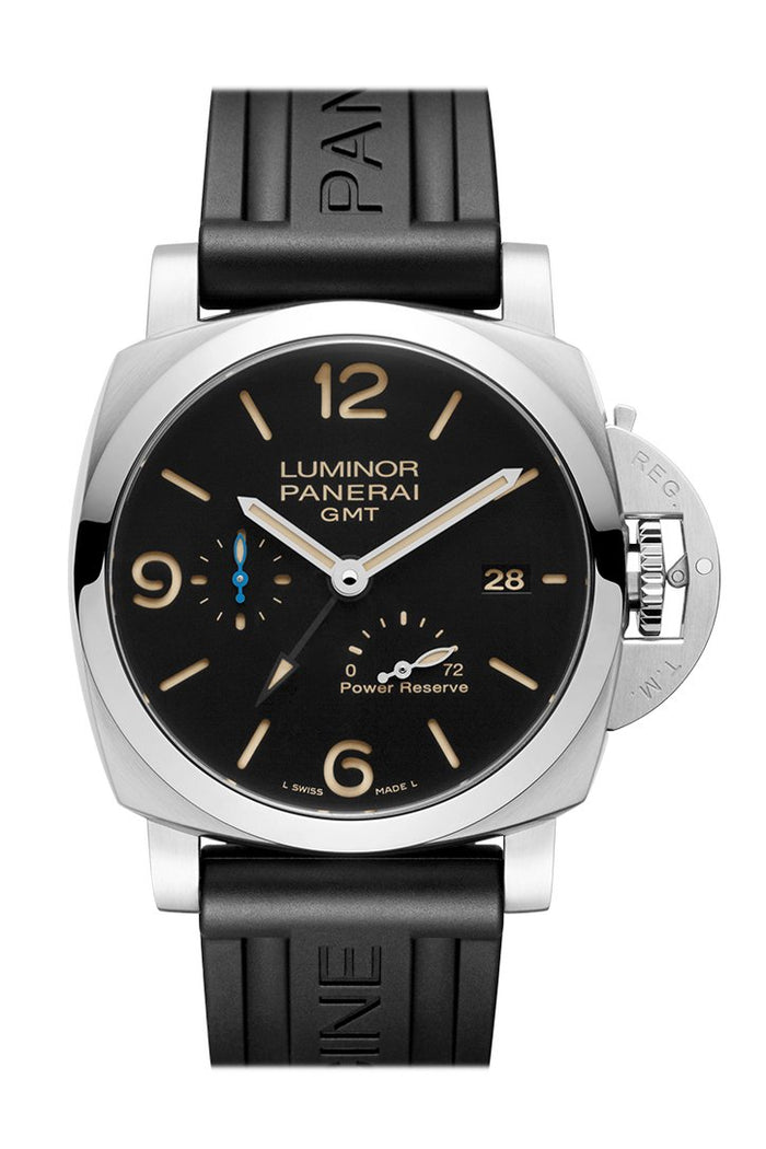 Panerai Luminor 3 Day Brown Leather Black Dial Watch PAM01104