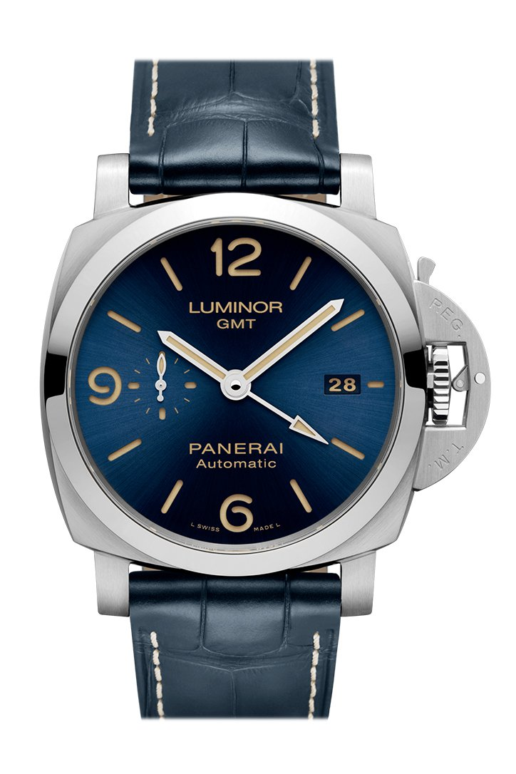 Panerai Luminor 1950 3 Days Gmt Automatic Acciaio Blue Pam01033 Watch