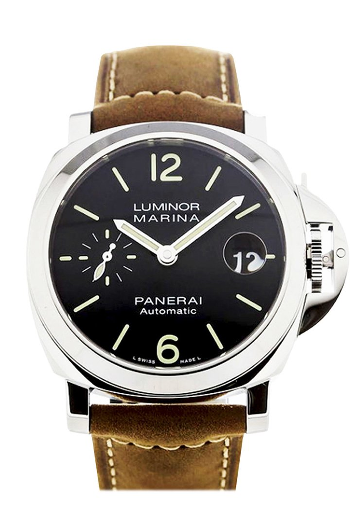 Panerai Luminor Marina Automatic Black Dial Mens Watch Pam01048