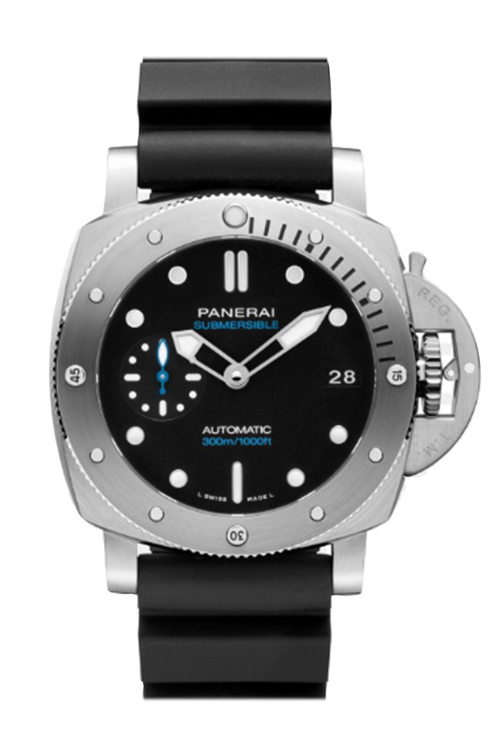 Panerai Submersible Automatic Black Dial Mens Watch Pam00973