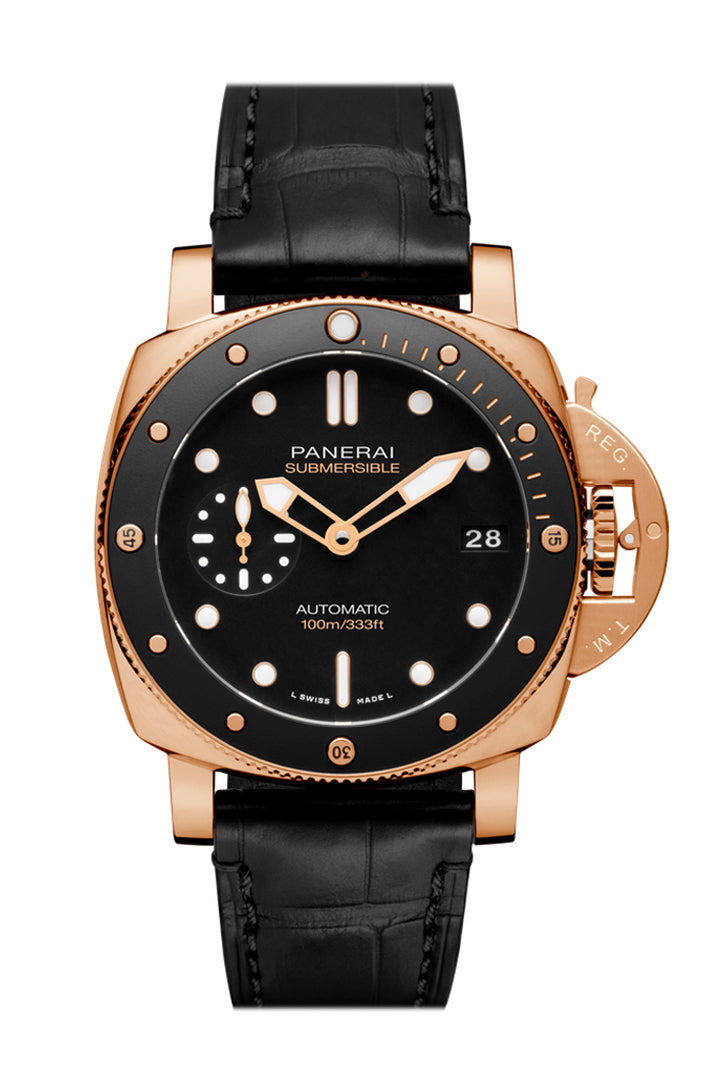 Panerai Submersible Automatic Black Dial Men's Watch PAM00974
