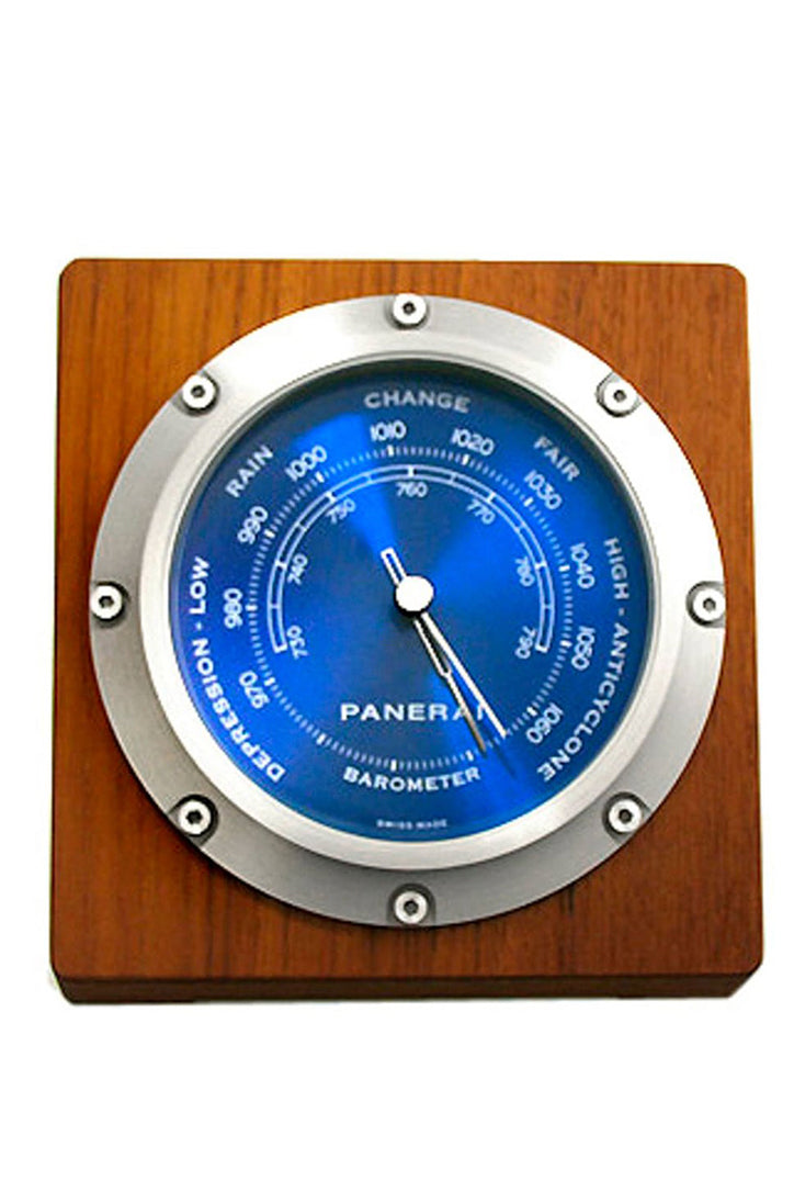 Panerai Blue Dial Wood and Stainless Steel Barometer PAM00257