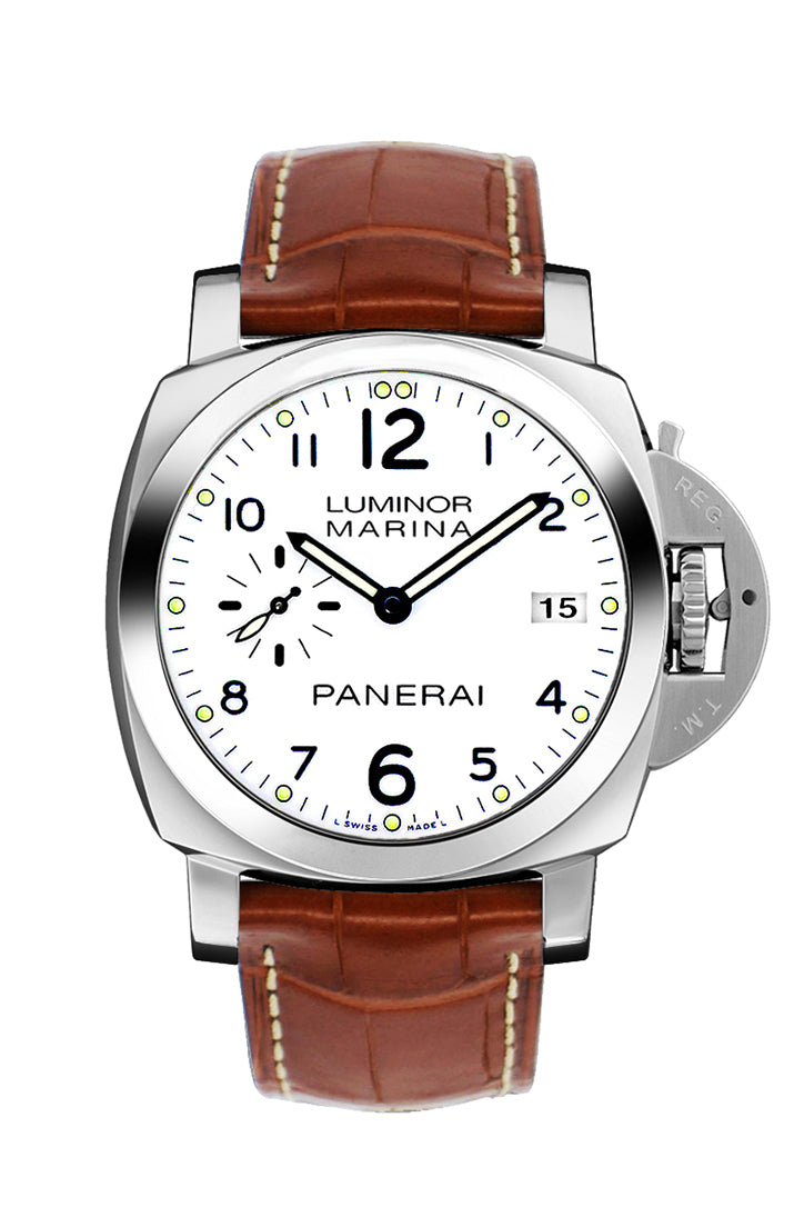 Panerai Luminor 1950 Automatic White Dial Men's Watch PAM00523