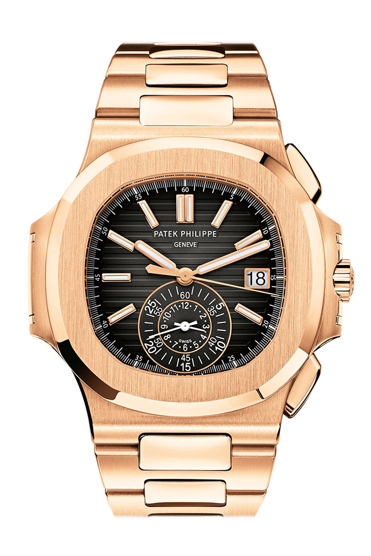 Patek Philippe Nautilus Rose Gold Black Graident Dial Mens Watch 5980/1R-001
