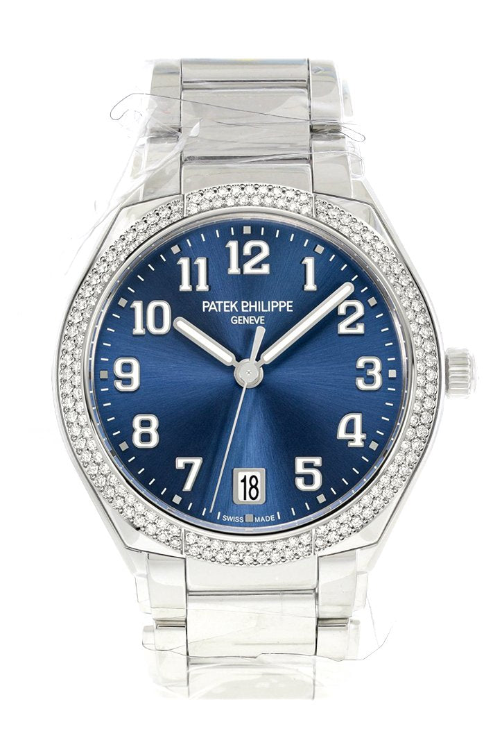 Patek Philippe Twenty 4 Blue Sunburst Dial Automatic Ladies Diamond Watch 7300/1200A-001