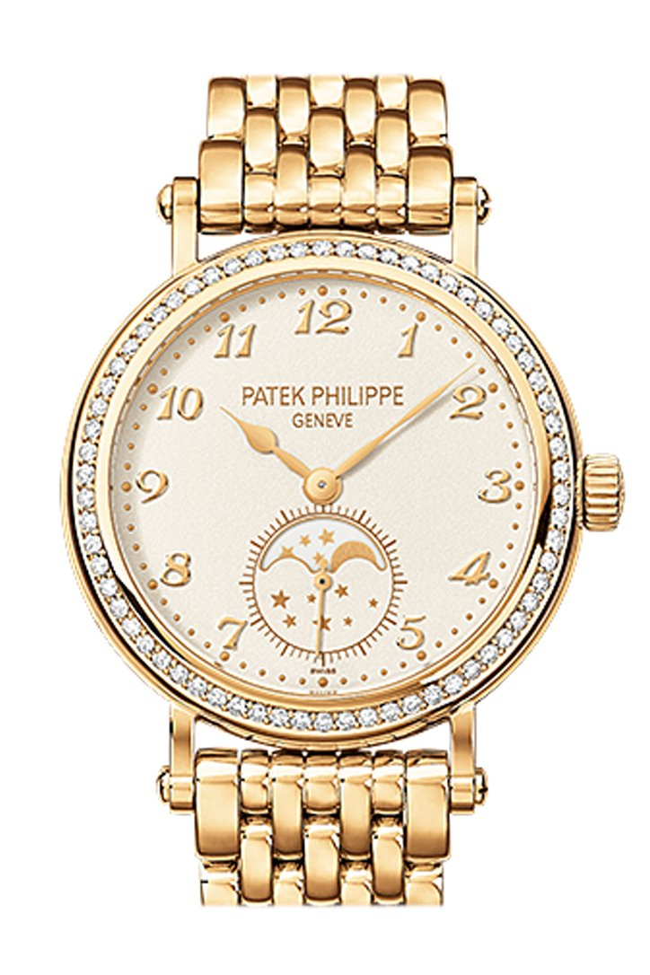 Patek Philippe Complications Silvery-White Dial Ladies Hand Wound Watch 7121/1J-001