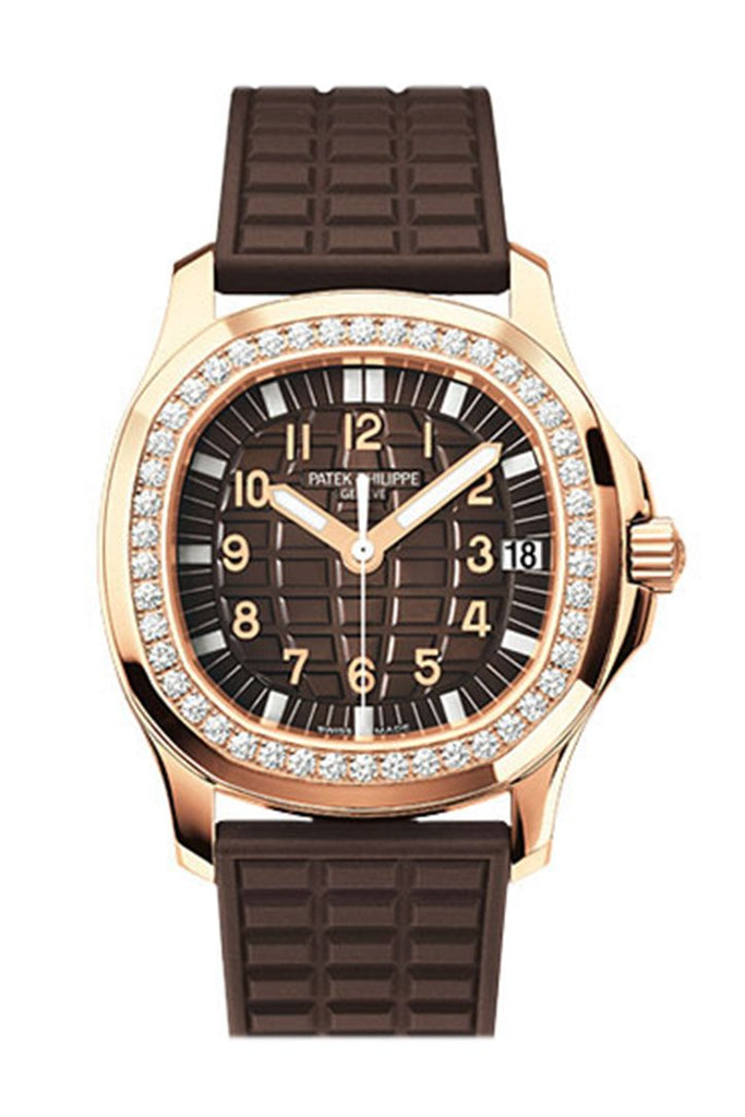 Patek Philippe Aquanaut Luce Automatic Diamond Brown Dial Ladies Watch 5068R-001