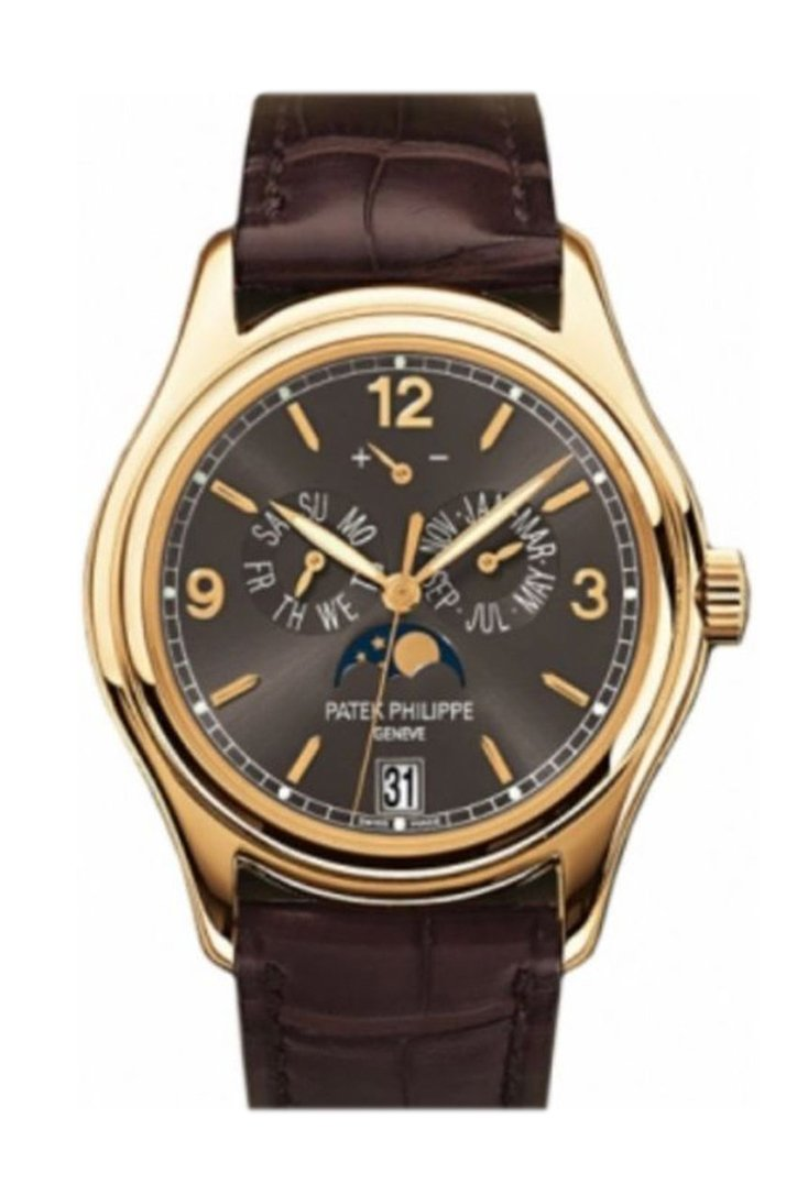 Patek Philippe Complications Grey Dial 18kt Yellow Gold Men's Watch 5146J-010