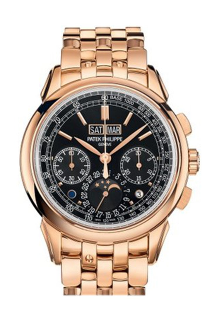 Patek Philippe Grand Complications Perpetual Chronograph Black Dial Watch 5270-1R-001