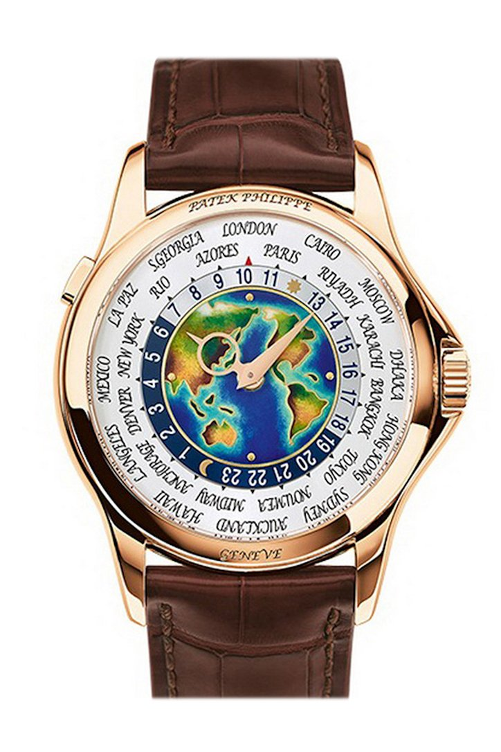 Patek Philippe Men's Complications Rose Gold World Time Enamel Dial 1 5131R-010