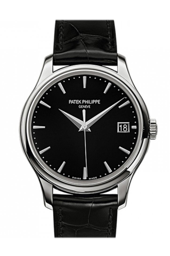 Patek Philippe Calatrava Black Dial Automatic Men's Watch 5227G-010