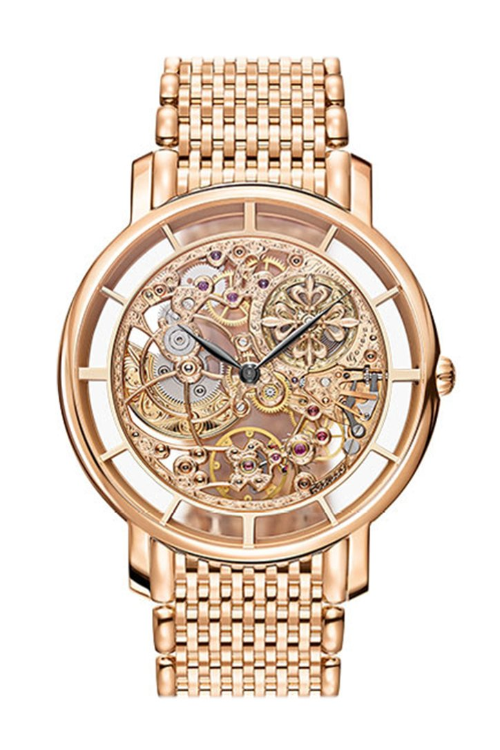 Patek Philippe Complications Skeleton Dial Automatic Mens 18Kt Rose Gold Watch 5180/1R-001