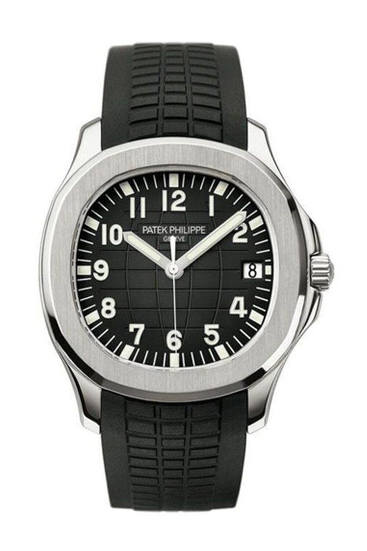 Patek Philippe Aquanaut Automatic Black Dial Stainless Steel Mens Watch 5167A-001