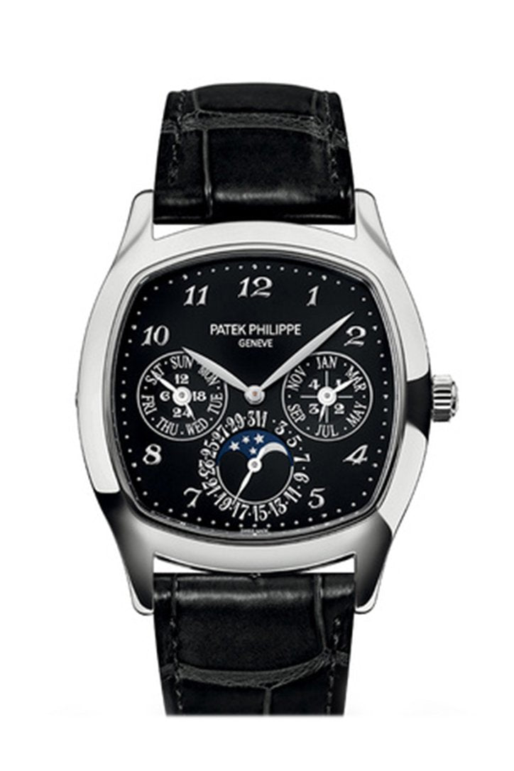 Patek Philippe Grand Complications Perpetual Chronograph Silver Dial Men's Watch 5204R-001