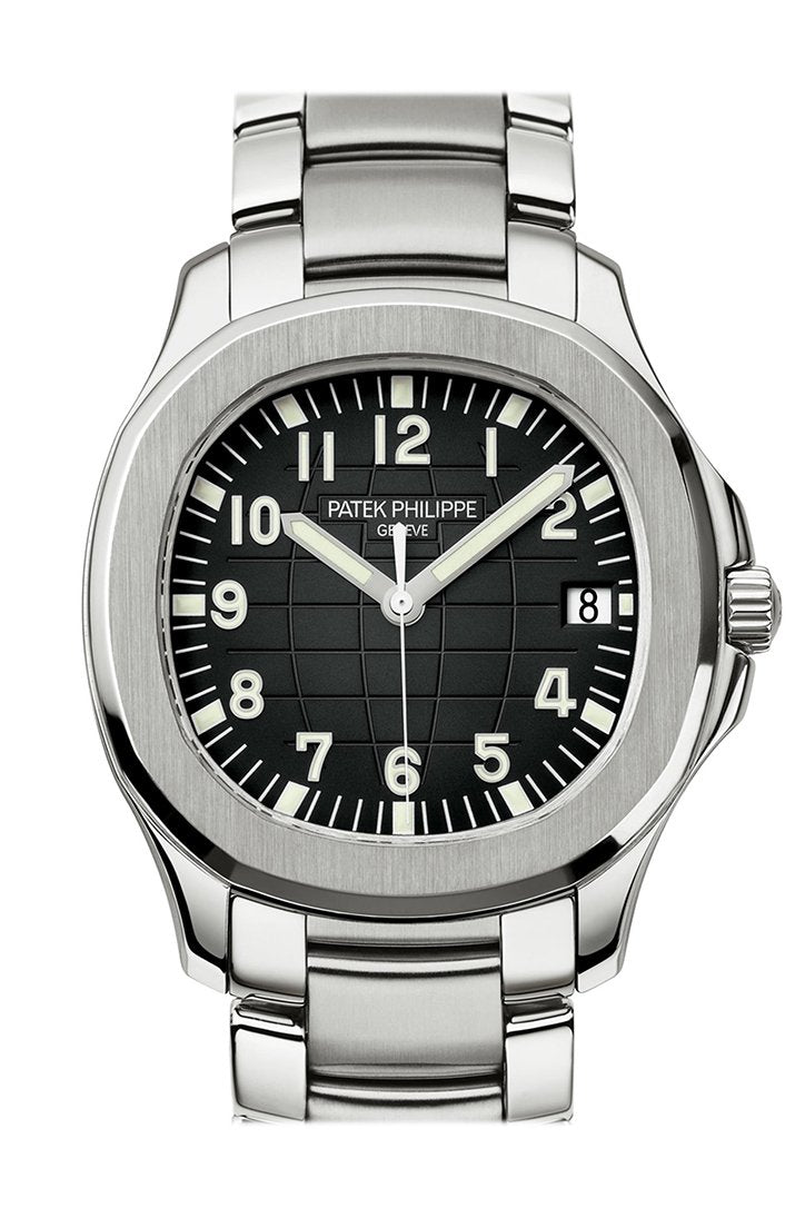 Patek Philippe Aquanaut Dual Time Black Dial Automatic Men's Watch 5164A-001