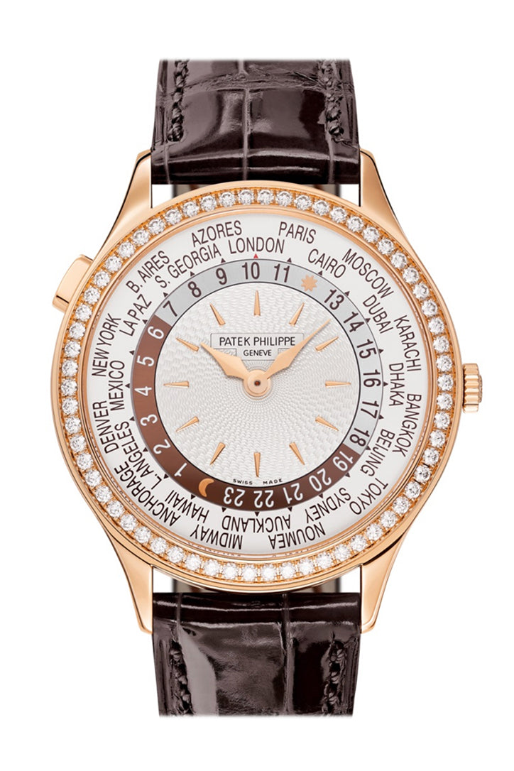 Patek Philippe Complications World Time Automatic Diamond Ladies Watch 7130R-013