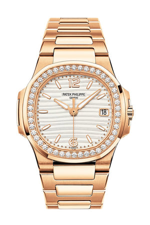 Patek Philippe Nautilus 18kt Rose Gold Diamond Ladies Watch 7010/01R-011  7010-1R-011