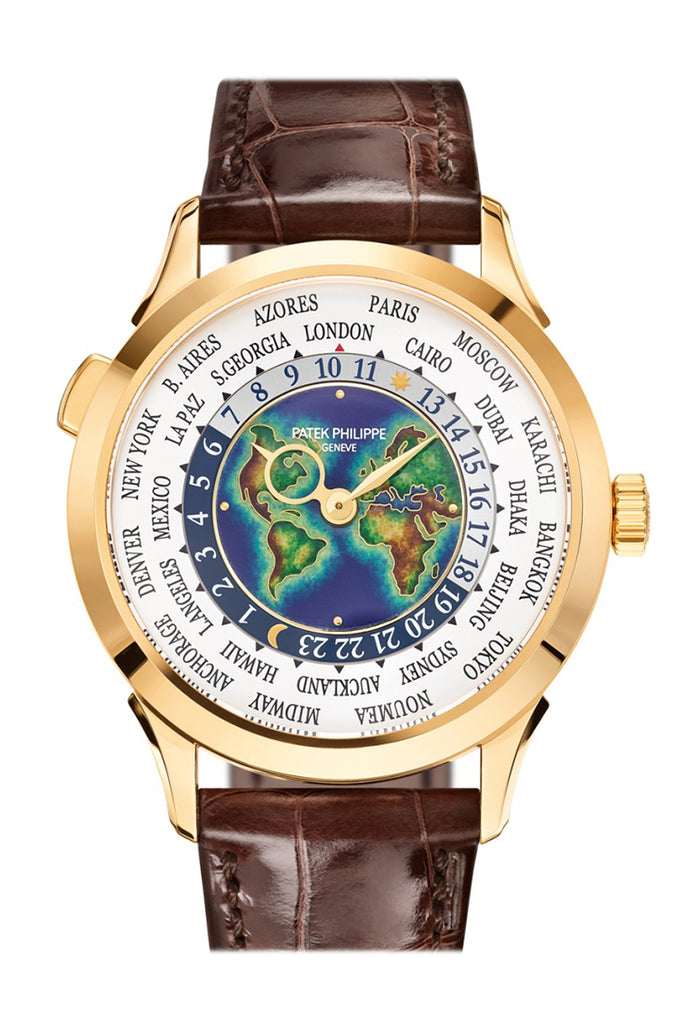 Patek Philippe Complications World Timer GMT White Dial Watch 5231J-001