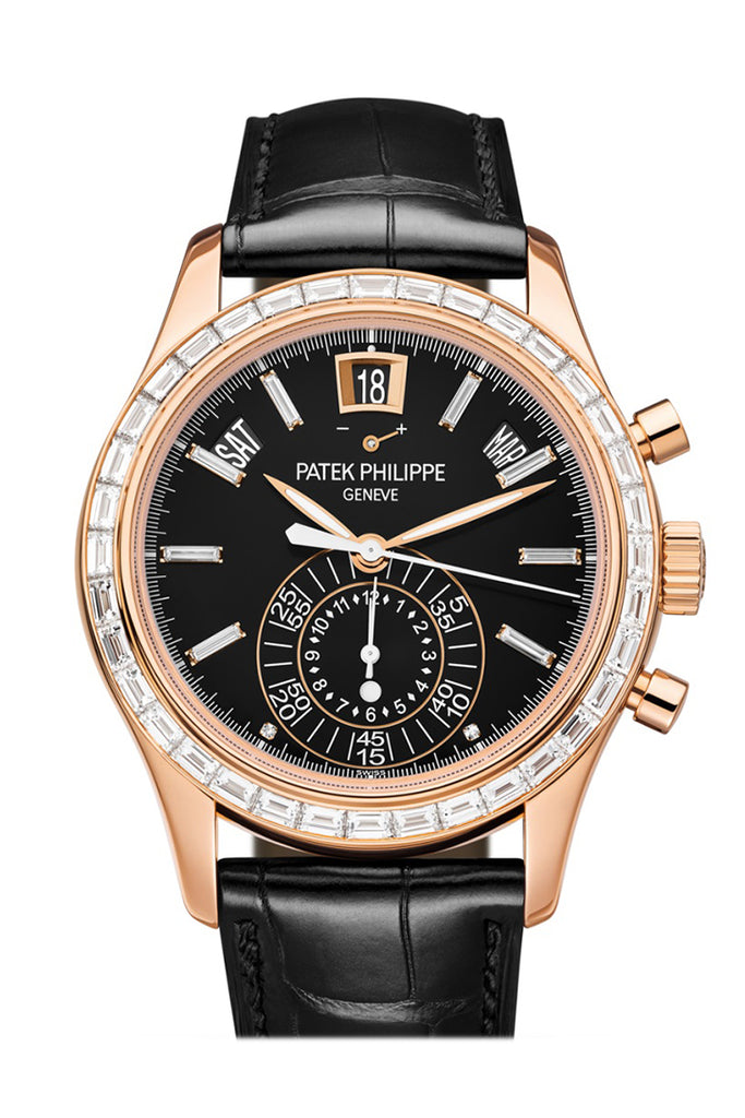 Patek Philippe Complications Chronograph Annual Calendar Automatic Gold Diamond Men's Watch 5961R-010