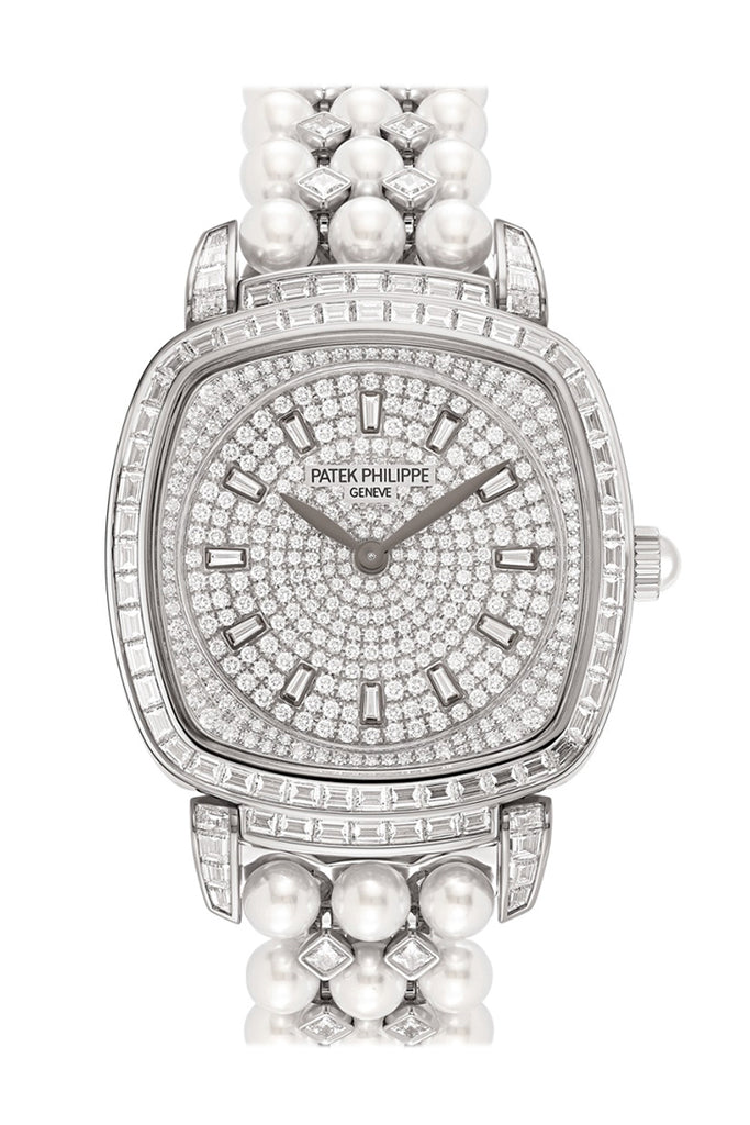 Patek Philippe Gongolo White Gold and Diamonds Ladies Watch 7042/100R-001