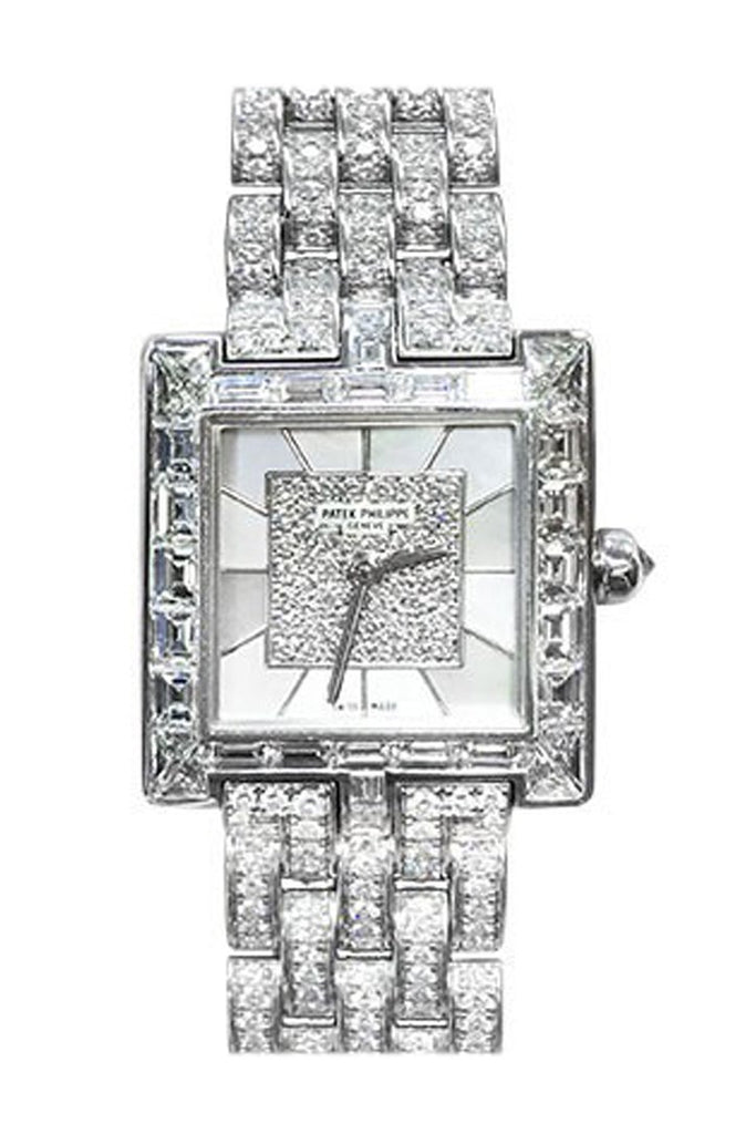 Patek Philippe Ladies Gondola Mother Of Pearl Diamond 4875/1G-001 Pre Owned / None Pre-Owned-Watches