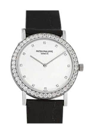 Patek Phillippe Philippe Calatrava 5006G 18K White Gold 33Mm Womens Watch 5006 G Pre Owned / None