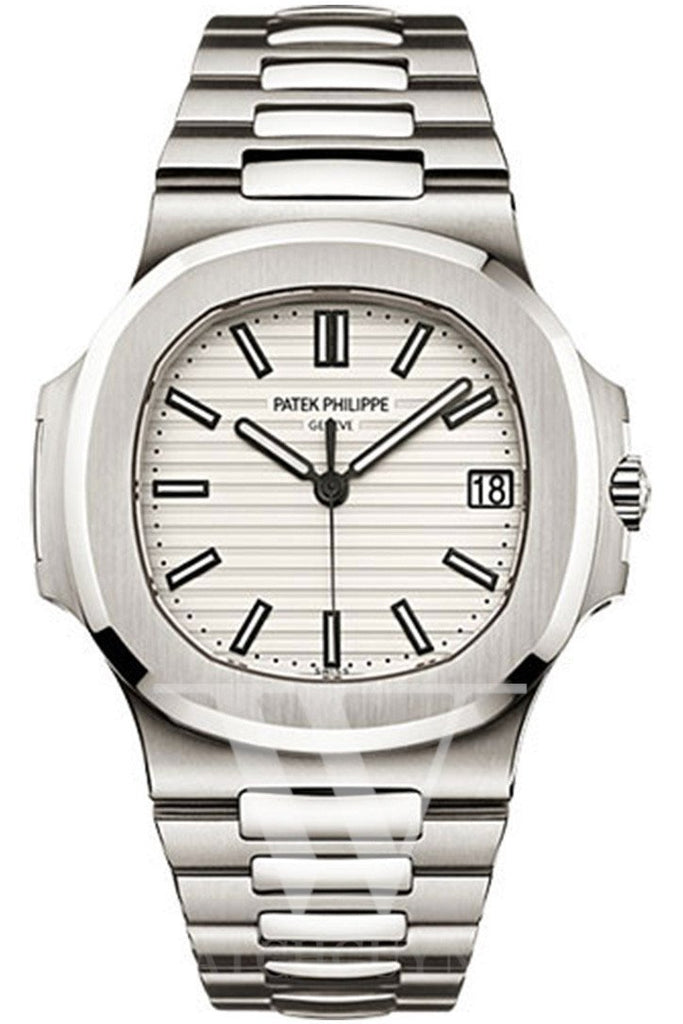 Patek Philippe Nautilus Gold White Dial Mens Watch 5711/1A-011