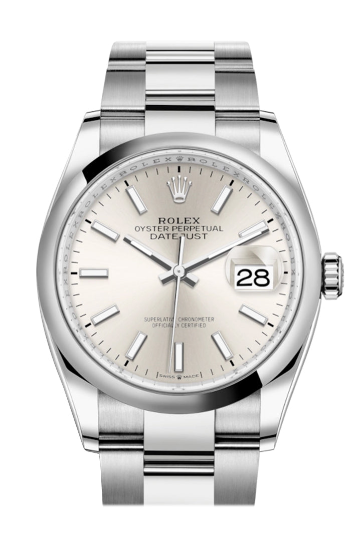 Rolex Datejust 36 Silver Dial Automatic Watch 126200