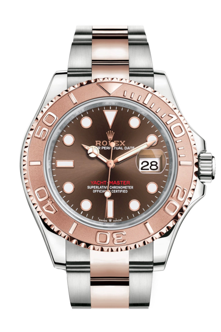 Rolex Yacht-Master 40 Chocolate Dial Automatic Men's Steel and 18K Everose Gold Oyster Watch 126621
