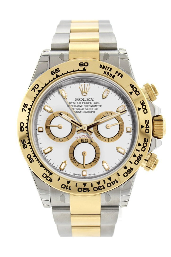 Rolex Cosmograph Daytona White Dial Stainless Steel And Gold Mens Watch 116503