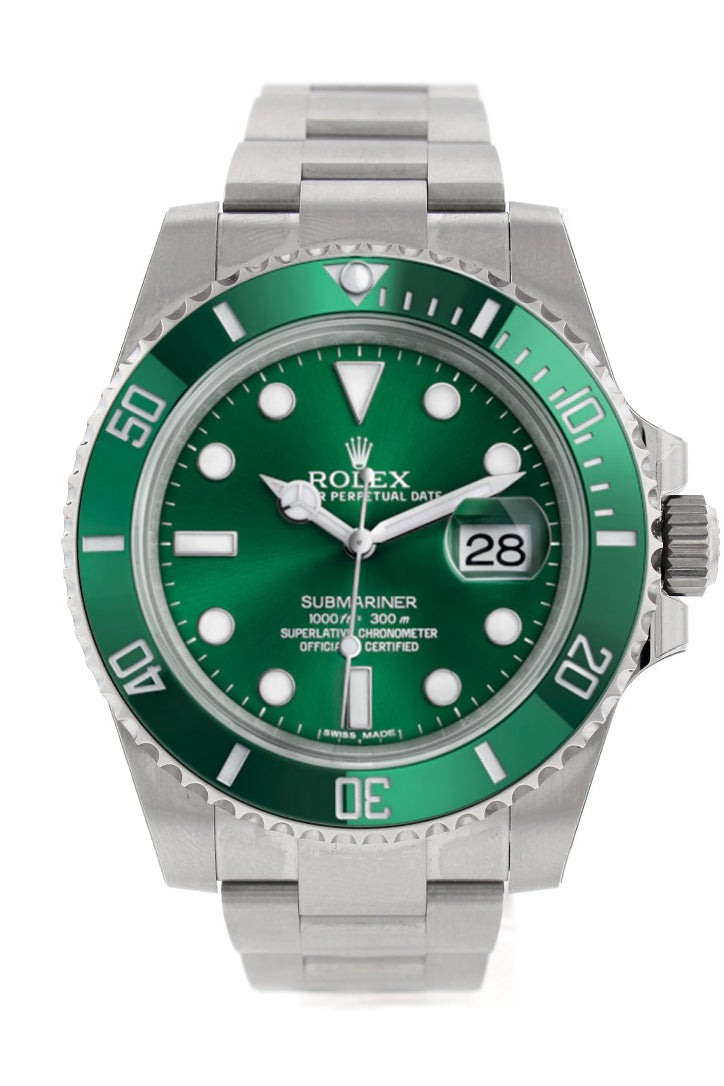 Rolex Submariner Hulk Date 40 Green Dial Mens Watch 116610LV 116610
