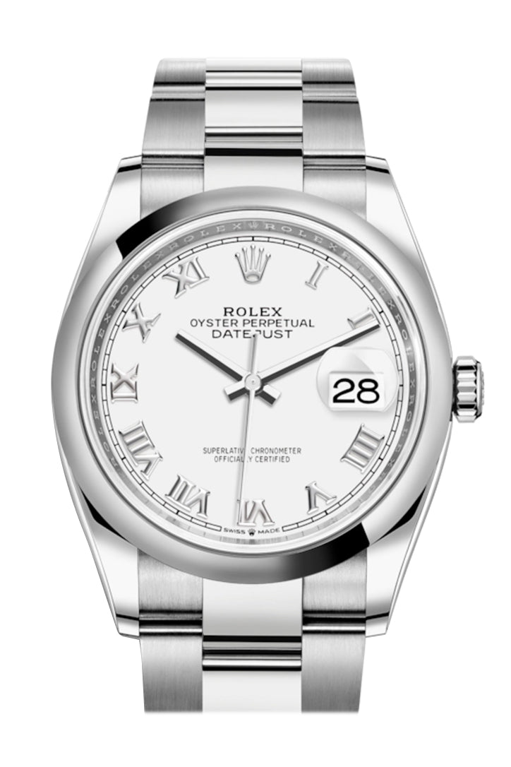 Rolex Datejust 36 White Dial Automatic Watch 126200
