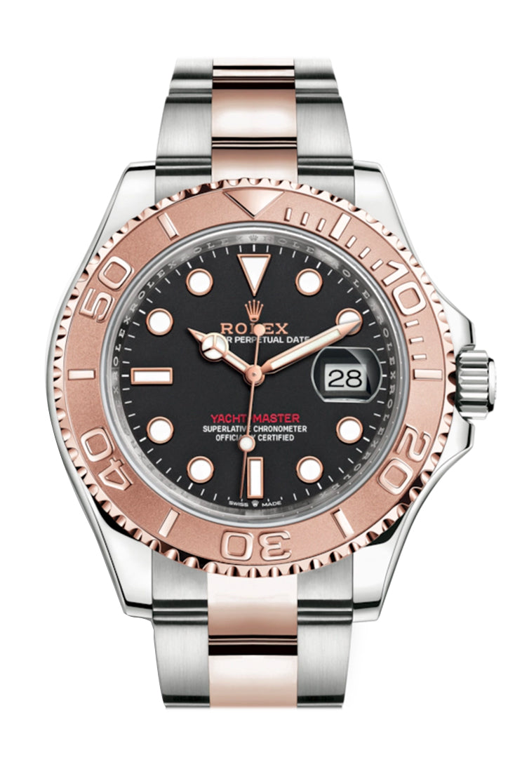 Rolex Yacht-Master 40 Black Dial Automatic Men's Steel and 18K Everose Gold Oyster Watch 126621