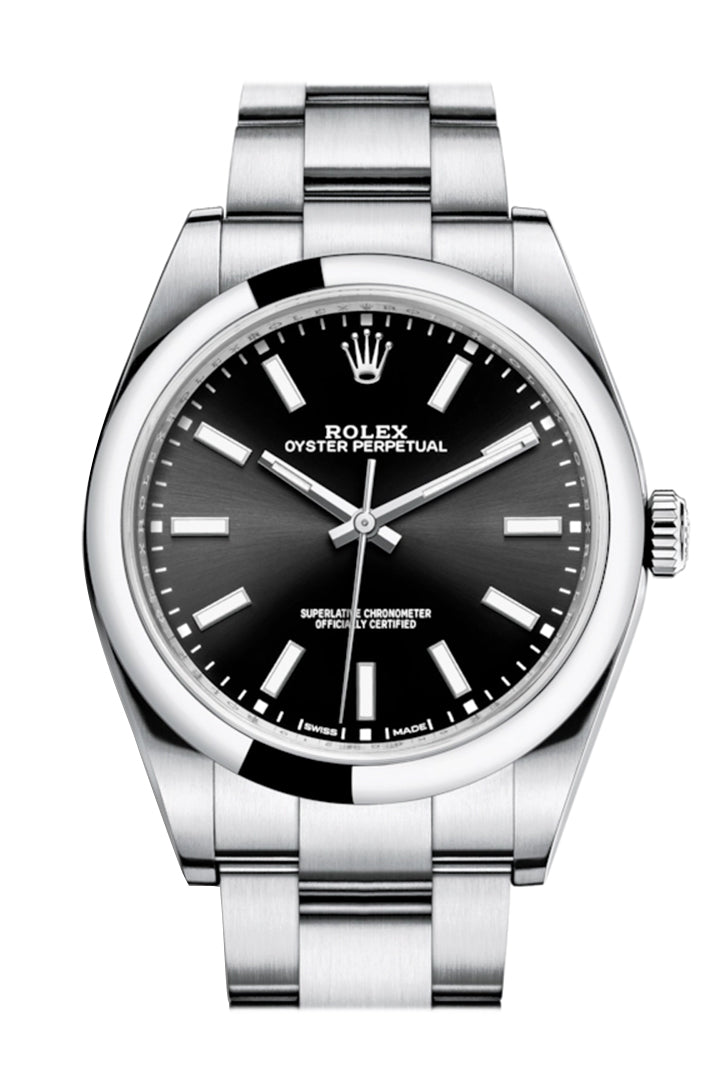 ROLEX OYSTER PERPETUAL 39 Black Dial Men's Watch 114300