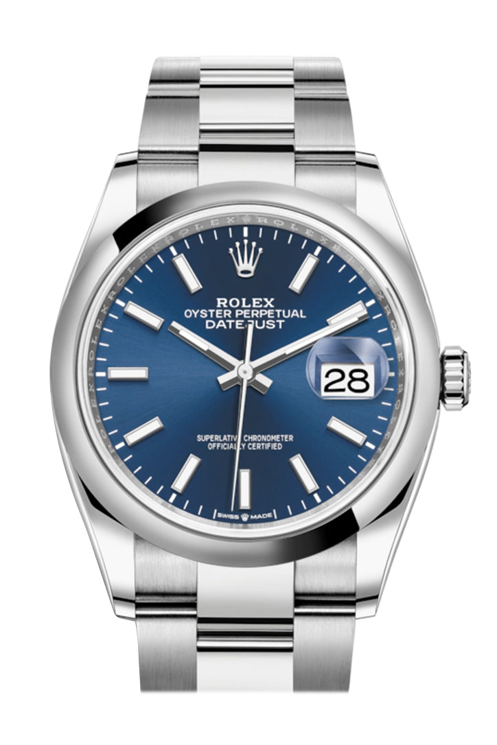 Rolex Datejust 36 Blue Dial Automatic Watch 126200