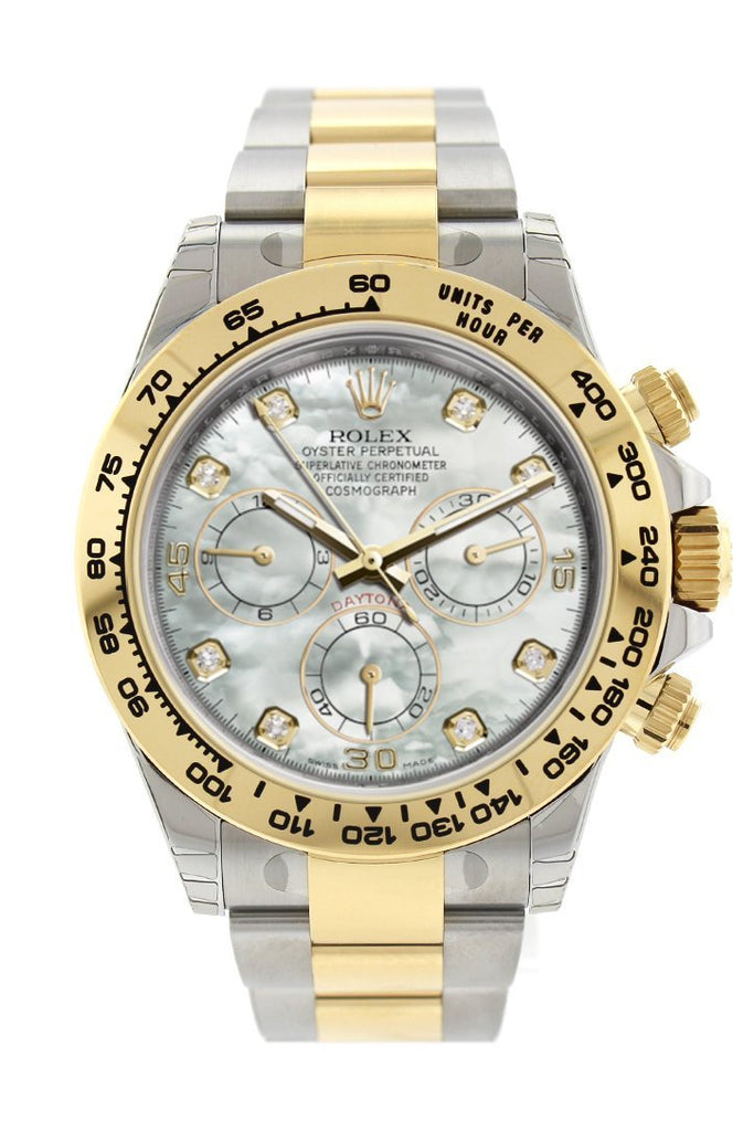 Rolex Cosmograph Daytona Mother Of Pearl Diamond Dial Oyster Bracelet Watch 116503