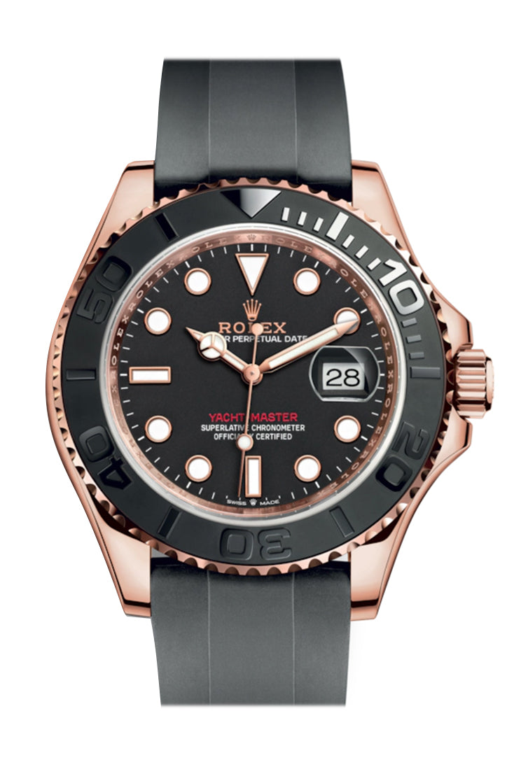 Rolex Yacht-Master 40 Automatic Black Dial 18kt Everose Gold Watch 126655