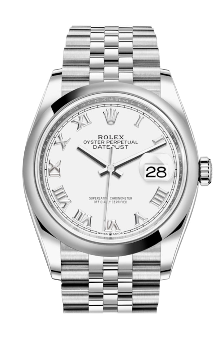 Rolex Datejust 36 White Dial Automatic Jubilee Watch 126200