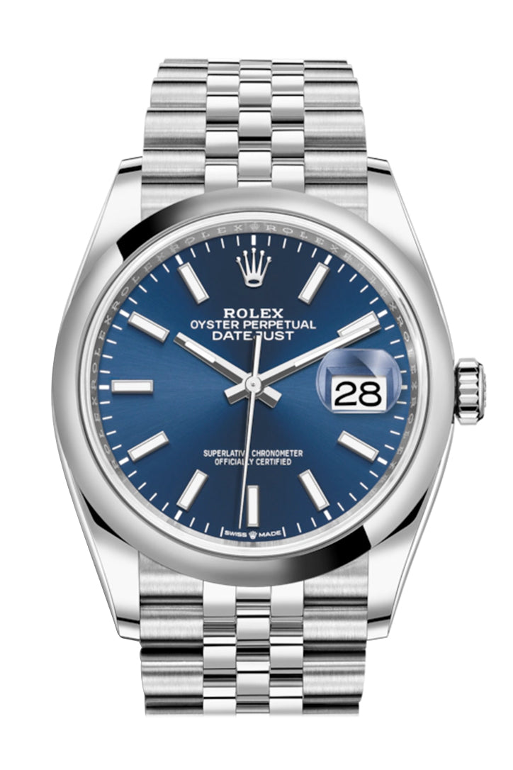 Rolex Datejust 36 Blue Dial Automatic Jubilee Watch 126200