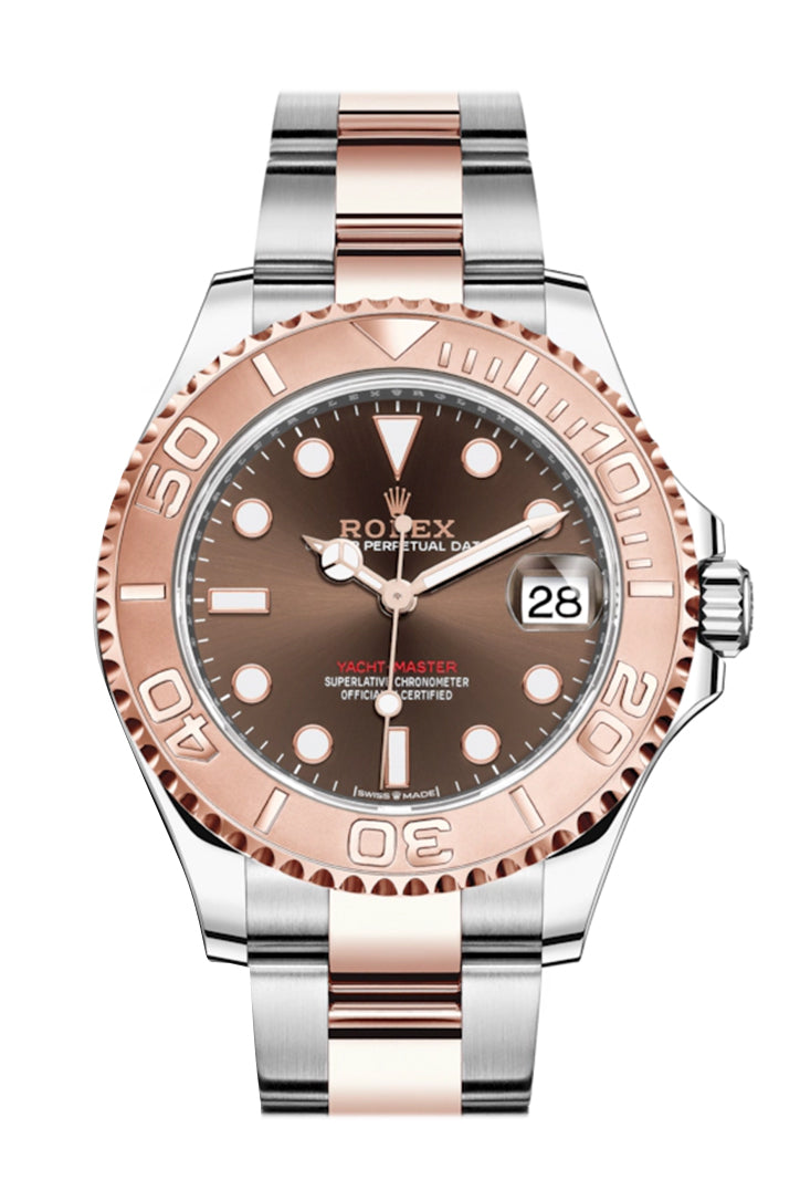 Rolex Yacht-Master 37 Chocolate Dial Automatic Men's Steel and 18K Everose Gold Oyster Watch 268621