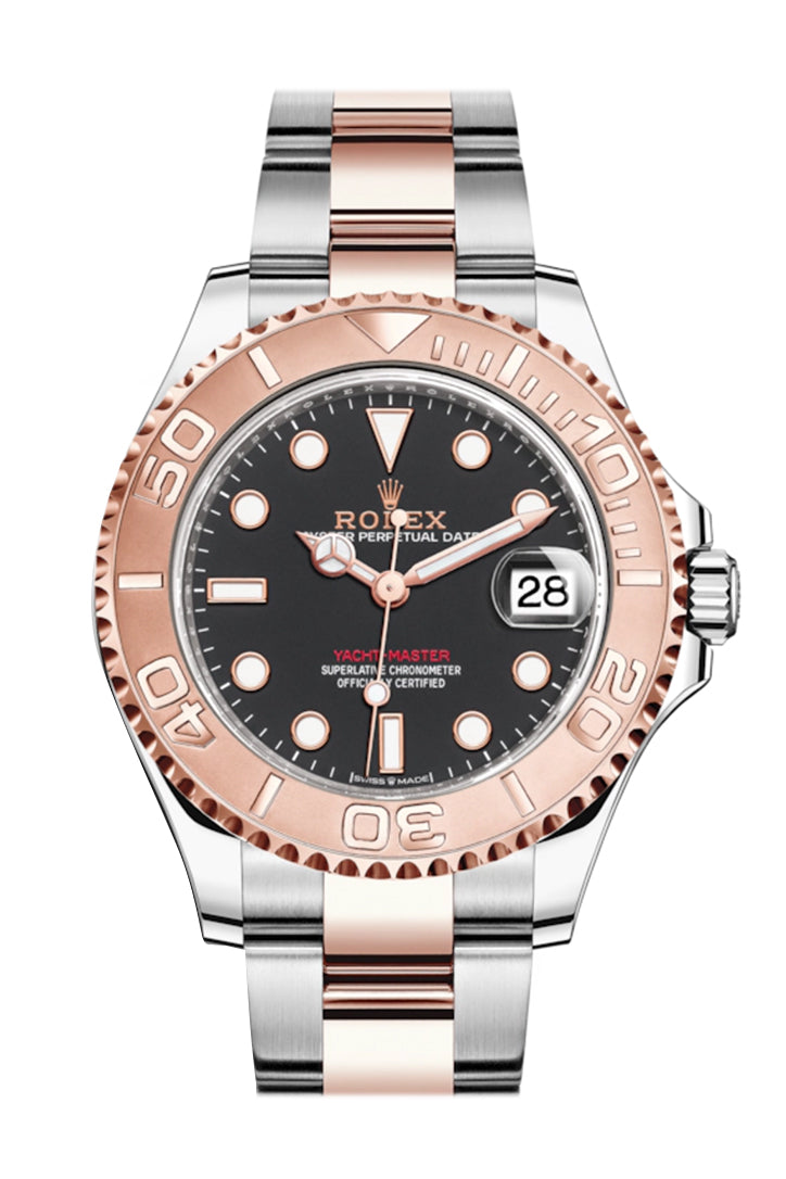 Rolex Yacht-Master 37 Black Dial Automatic Men's Steel and 18K Everose Gold Oyster Watch 268621